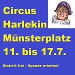 Circus harlekin auf dem Muensterplatz